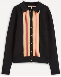ALEXACHUNG Brunel Stripe Knit Shirt - Black