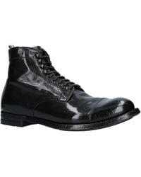 Officine Creative Anatomia Leather Boots - Black