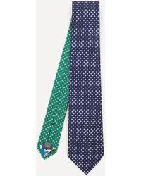 Paul Smith Stars Silk Tie - Blue