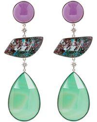 Stephen Dweck - Silver Three Stone Drop Earrings - Lyst