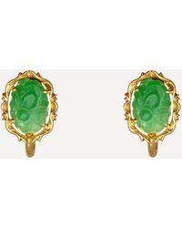 Kojis Gold 1960s Jade Screw-back Earrings - Metallic