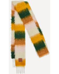 Loewe Striped Mohair-blend Scarf - Multicolour