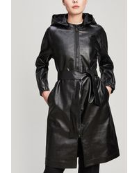 A.P.C. - Angele Hooded Trench Coat - Lyst