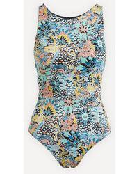 Roxy Marine Bloom One-piece Swimsuit - Blue