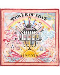 Liberty Power Of Love & 45 X 45cm Silk Twill Scarf - Multicolour