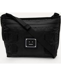 Acne Studios Logo Plaque Crossbody Bag - Black
