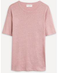 Officine Generale - Linen Short-sleeve T-shirt - Lyst