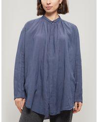 Pas De Calais Linen Button-up Shirt - Blue