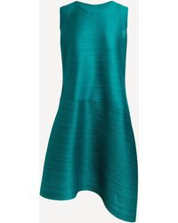 Pleats Please Issey Miyake Vein Dress - Green