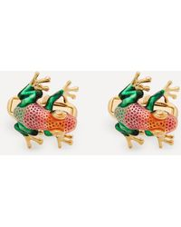 Paul Smith Enamel Rainbow Frog Cufflinks - Multicolour