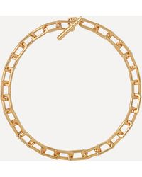 Joolz by Martha Calvo Gold-plated Square Link Chain Necklace - Metallic