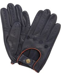 Dents Leather Driving Gloves - Blue