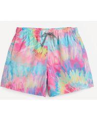 Boardies Spiral Tie Dye Swim Shorts - Multicolor