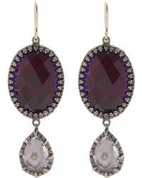 Larkspur & Hawk - Silver Sadie Oval And Pear Drop Earrings - Lyst