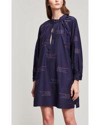 Rodebjer Nakawe Cotton Dress - Blue