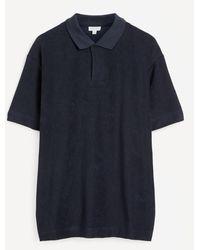 Sunspel Terry Polo-shirt - Blue