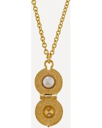 Alex Monroe - X Raven Smith Gold-plated Cannonball Hidden Pearl Pendant Necklace - Lyst