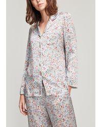 Liberty - Delilah Silk Satin Pyjama Set - Lyst