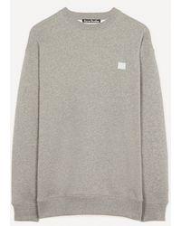 Acne Studios Face Logo Oversized Sweatshirt - Grey
