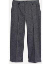 Piazza Sempione Classic Denim Trousers - Blue