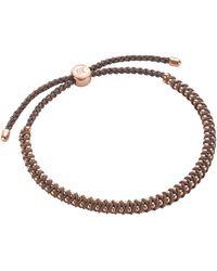 Monica Vinader Rose Gold Plated Vermeil Silver Rio Mini Friendship Bracelet - Metallic
