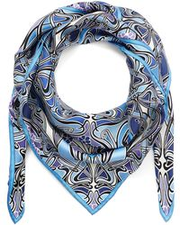 Liberty Ianthe 90x90 Silk Scarf - Blue
