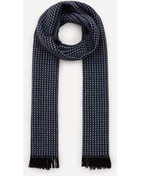 Nick Bronson Micro Pattern Wool Scarf - Blue