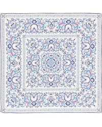 Liberty Lodden 70x70 Silk Scarf - Blue