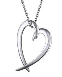 Shaun Leane Silver Heart Pendant Necklace - Metallic