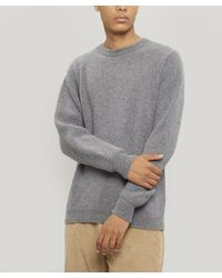 Albam Ribbed Wool Knitted Jumper - Grey