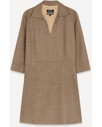 A.P.C. Merida Wide-collar Mini-dress - Multicolor