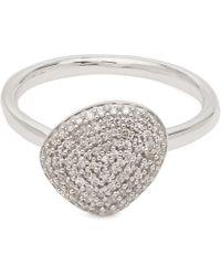 Monica Vinader - Silver Nura Pebble Diamond Stacking Ring - Lyst