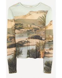 Paloma Wool Horatio Desierto Landscape Print Top - Natural
