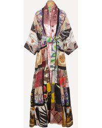 Rianna + Nina One Of A Kind Volant Sequin Kimono - Multicolour