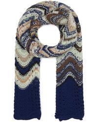 Missoni - Zig-zag Stripe Open Weave Wool-blend Scarf - Lyst