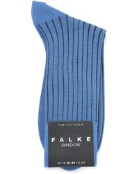 FALKE Shadow Ribbed Ankle Socks - Blue