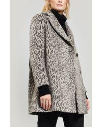 Cinzia Rocca - Leopard Print Short Coat - Lyst