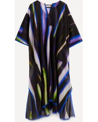 Dries Van Noten Printed Cotton Kaftan - Blue