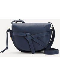 Loewe Small Gate Leather Cross-body Bag - Blue