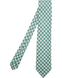 Drake's - Large Houndstooth Tie - Lyst