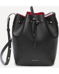Mansur Gavriel Vegetable Tanned Leather Mini Bucket Bag - Black