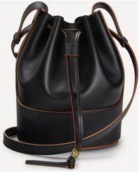 Loewe Small Balloon Leather Bucket Bag - Black