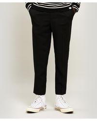 AMI Cropped Wool Crepe Pants - Black