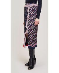 Liberty Vita Satin Knee-length Skirt - Blue