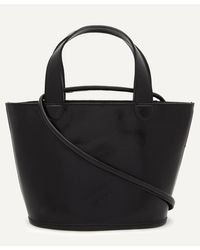 Paloma Wool Catan Small Leather Tote Bag - Black