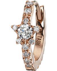 "Maria Tash 5/16"" Diamond Star Eternity Hoop Earring - Multicolour"