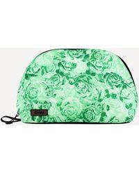 Ganni Multi-check Tech Fabric Toiletry Bag - Multicolour