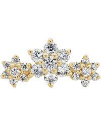 Maria Tash Diamond Flower Garland Threaded Stud Earring - Metallic
