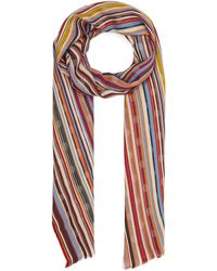 Paul Smith Striped Polka-dot Cotton-blend Scarf - Multicolour