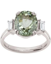 Dinny Hall - White Gold Grace Kelly Tourmaline And Diamond Ring - Lyst